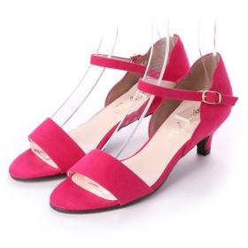 ブランコワール Balancoire glitter シンプルストラップサンダル (ピンク)