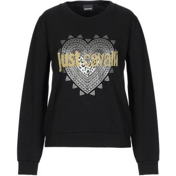 《セール開催中》JUST CAVALLI レディース スウェットシャツ ブラック XS コットン 100%