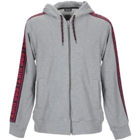 《セール開催中》JUST CAVALLI メンズ スウェットシャツ グレー S コットン 100% / ナイロン / ポリエステル