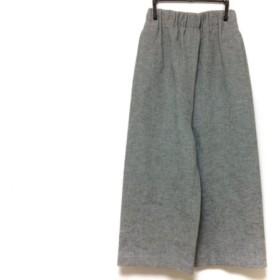 【中古】 エンフォルド ENFOLD パンツ サイズ36 S レディース 美品 ライトグレー ウエストゴム