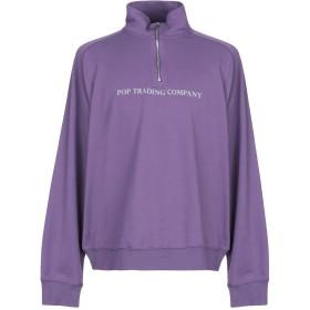 《セール開催中》POP TRADING COMPANY メンズ スウェットシャツ パープル XL コットン 100%
