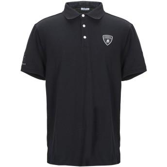 《9/20まで! 限定セール開催中》AUTOMOBILI LAMBORGHINI メンズ ポロシャツ ブラック L コットン 100%