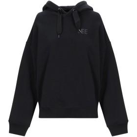 《期間限定 セール開催中》LEE レディース スウェットシャツ ブラック XS コットン 100%