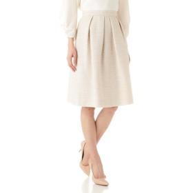 NATURAL BEAUTY フェアリーツィードスカート ひざ丈スカート,ベージュ3
