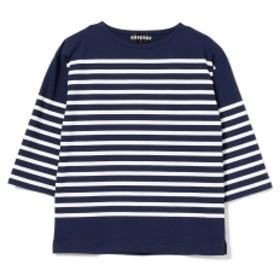 AUBERGE / CHARLOTTE 七分袖 ボーダーカットソー メンズ Tシャツ INKxWHITE 42