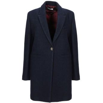 《セール開催中》CIRCOLO 1901 レディース コート ブルー 40 バージンウール 65% / 毛(アルパカ) 25% / ナイロン 10%
