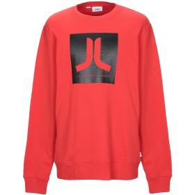 《セール開催中》WESC メンズ スウェットシャツ レッド XL コットン 100%