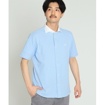 FRED PERRY × BEAMS / 別注 カッタウェイ フルオープン ポロシャツ 19SS メンズ ポロシャツ ICE XL