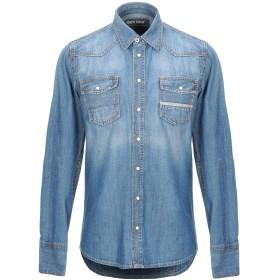 《期間限定 セール開催中》CARE LABEL メンズ デニムシャツ ブルー M コットン 100%