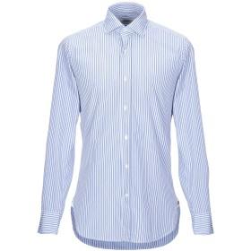《セール開催中》GUGLIELMINOTTI メンズ シャツ ブルー 39 コットン 100%