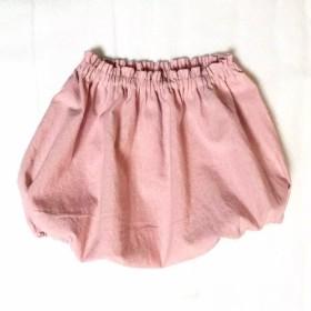 ぷっくりおしりがかわいい ちょっとくすみピンク シンプルな かぼちゃパンツ 70 80サイズ
