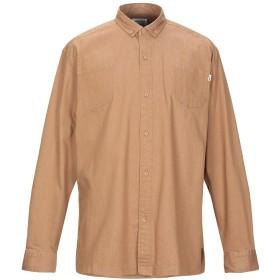 《期間限定セール開催中!》FAIRPLAY メンズ シャツ キャメル S コットン 98% / ポリウレタン 2%