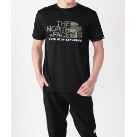 <THE NORTH FACE/ザ・ノース・フェイス> Tシャツ S/S CAMOUFLAGE LOGO TEE メンズ(NT31932) ブラック 【三越・伊勢丹/公式】