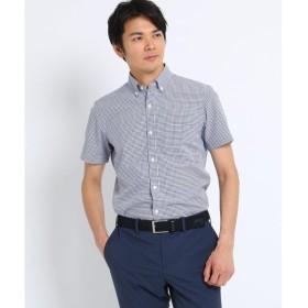 TAKEO KIKUCHI / タケオキクチ CS_ギンガムチェッククールマックス 半袖 シャツ