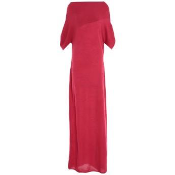 《セール開催中》BEN TAVERNITI UNRAVEL PROJECT レディース ロングワンピース&ドレス レッド XS カシミヤ 100%
