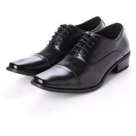 ジーノ Zeeno ビジネスシューズ 靴 メンズ 紳士靴 フォーマル ストレートチップ レースアップ 内羽根 シークレットシューズ ロングノーズ (ブ