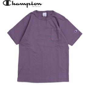 チャンピオン Champion Tシャツ 半袖 メンズ レディース T1011 US T-SHIRT WITH POCKET パープル C5-P305
