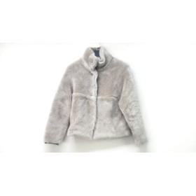 【中古】 マカフィ MACPHEE ブルゾン サイズ36 S レディース 美品 グレー 冬物/ボア