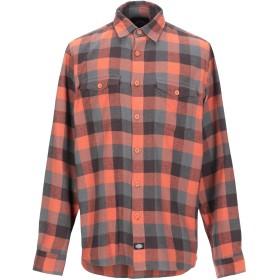 《期間限定 セール開催中》DICKIES メンズ シャツ オレンジ S コットン 100%