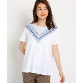 Reflect / リフレクト 【洗える】スカーフ柄プリントTシャツ