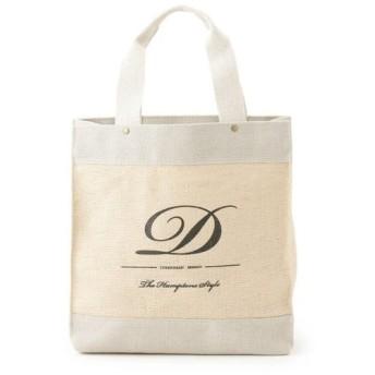 Dessin デッサン ロゴ入りリネントートバッグ