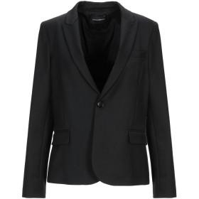《期間限定セール開催中!》EMPORIO ARMANI レディース テーラードジャケット ブラック 42 ポリエステル 54% / バージンウール 43% / ポリウレタン 3%
