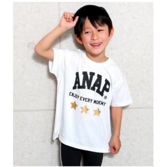 【15%OFF】 アナップキッズ 箔星ANAPロゴBIGTシャツ レディース WH 100 【ANAP KIDS】 【セール開催中】
