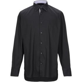 《セール開催中》GIAMPAOLO メンズ シャツ ブラック 41 コットン 100%