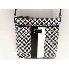 【中古】 ケイトスペード ショルダーバッグ 美品 WKRU3631 白 黒 スペード柄 PVC(塩化ビニール) レザー