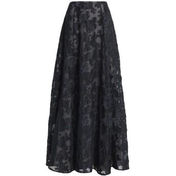 《期間限定セール開催中!》EMILIA WICKSTEAD レディース ロングスカート ブラック 16 ポリエステル 65% / シルク 33% / ナイロン 2%