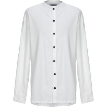 《9/20まで! 限定セール開催中》BONSAI メンズ シャツ ホワイト S コットン 100%