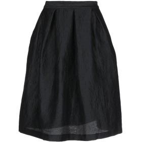 《期間限定 セール開催中》ROSE' A POIS レディース ひざ丈スカート ブラック 38 麻 55% / ウール 27% / ナイロン 16% / ポリウレタン 2%