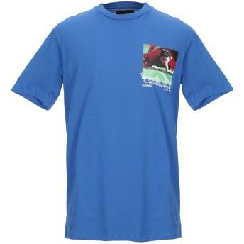 《セール開催中》PAS DE MER メンズ T シャツ ブライトブルー S コットン 100%