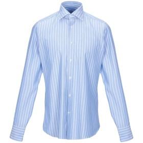 《セール開催中》CALIBAN メンズ シャツ アジュールブルー 39 コットン 100%