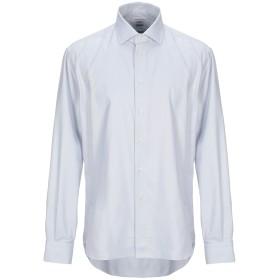 《セール開催中》CALLISTO CAMPORA メンズ シャツ ライトグレー 43 コットン 100%