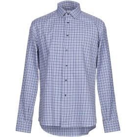 《セール開催中》CALLISTO CAMPORA メンズ シャツ ブルー 43 コットン 100%