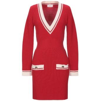 《セール開催中》VICOLO レディース ミニワンピース&ドレス レッド one size ウール 50% / アクリル 50% / 金属化ポリエステル / レーヨン