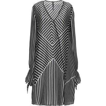 《セール開催中》MANILA GRACE レディース ミニワンピース&ドレス ブラック 40 シルク 100%