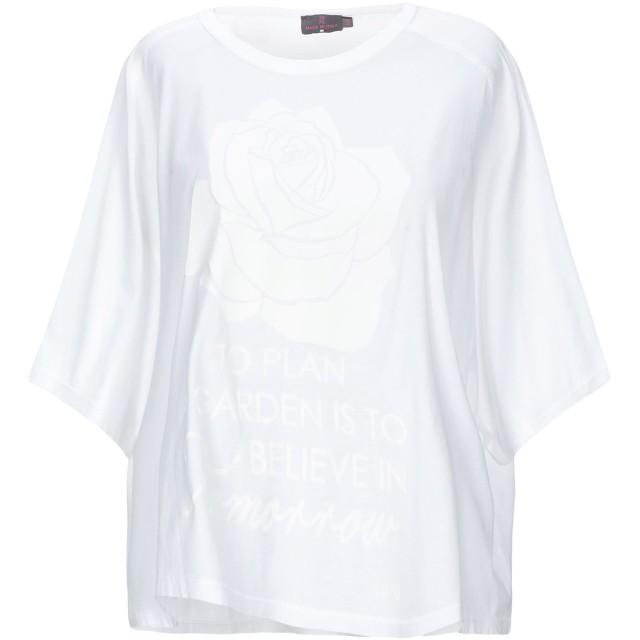 《期間限定セール開催中!》19.70 NINETEEN SEVENTY レディース T シャツ ホワイト 44 コットン 100%