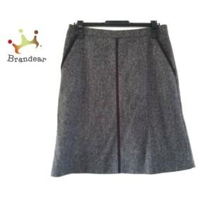 ヒューゴボス HUGOBOSS スカート サイズ38 L レディース 美品 ダークグレー 新着 20190422