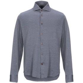 《セール開催中》SONRISA メンズ シャツ ダークブルー 43 コットン 100%