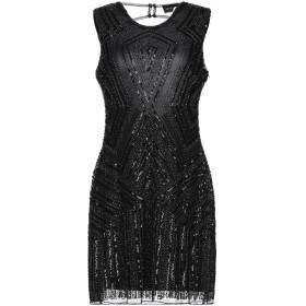 《期間限定セール開催中!》VANESSA SCOTT レディース ミニワンピース&ドレス ブラック L/XL ポリエステル 100%