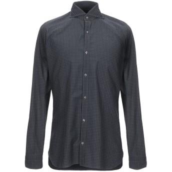 《9/20まで! 限定セール開催中》GIAMPAOLO メンズ シャツ 鉛色 38 コットン 100%