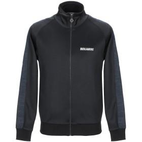 《セール開催中》LES BENJAMINS メンズ スウェットシャツ ブラック S ポリエステル 67% / コットン 33% / ポリウレタン