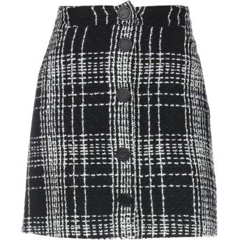 《セール開催中》FONTANA COUTURE レディース ミニスカート ブラック 44 ウール 91% / ナイロン 6% / カシミヤ 3%