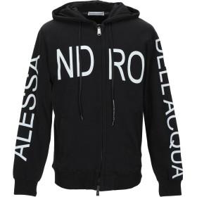 《期間限定セール開催中!》ALESSANDRO DELL'ACQUA メンズ スウェットシャツ ブラック S コットン 100%