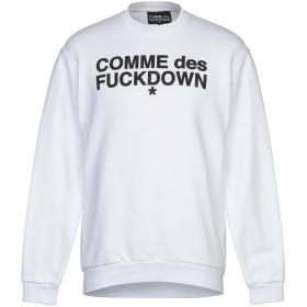 《期間限定セール開催中!》COMME DES FUCKDOWN メンズ スウェットシャツ ホワイト XS コットン 100%