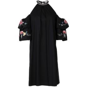 《セール開催中》VILSHENKO レディース ミニワンピース&ドレス ブラック 6 コットン 96% / ポリウレタン 4%