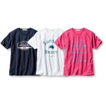 吸汗速乾半袖プリントTシャツ3枚組(サーフ) Tシャツ・カットソー