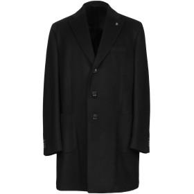 《期間限定セール開催中!》L'8 BY LUBIAM メンズ コート ブラック 56 ウール 90% / カシミヤ 10%